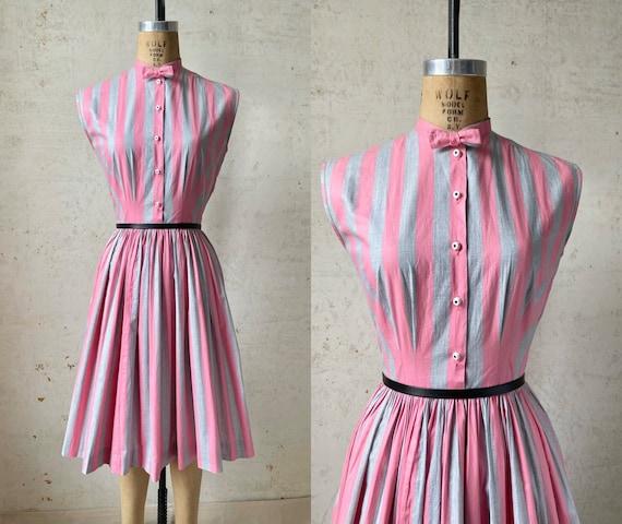 Vintage 50's Joan Miller Juniors Shirtwaist Dress… - image 1