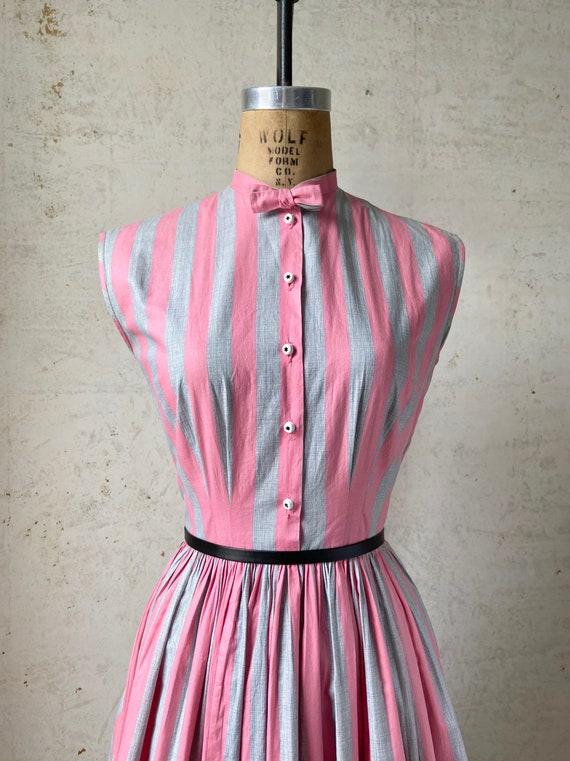 Vintage 50's Joan Miller Juniors Shirtwaist Dress… - image 3