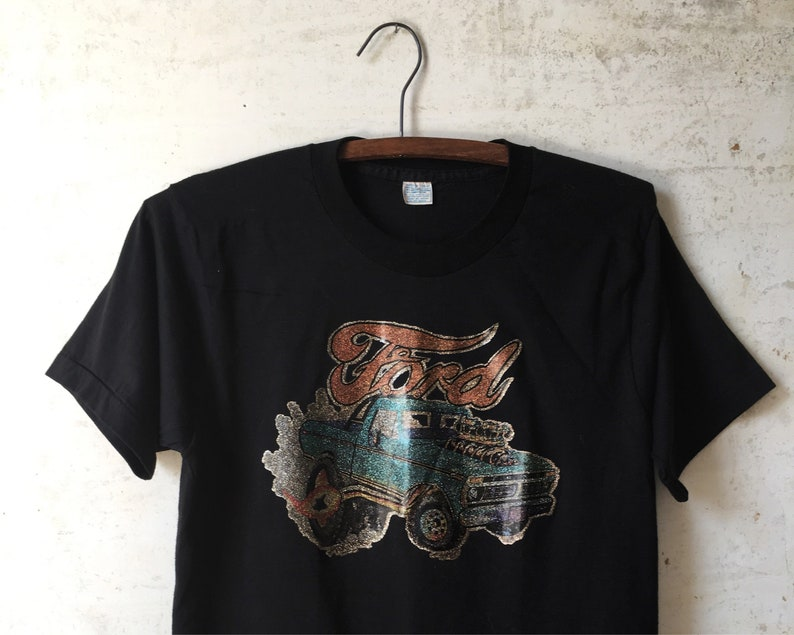 47d1992d Vintage 70's Ford Glitter Transfer Hot Rod Rat Tee Muscle | Etsy