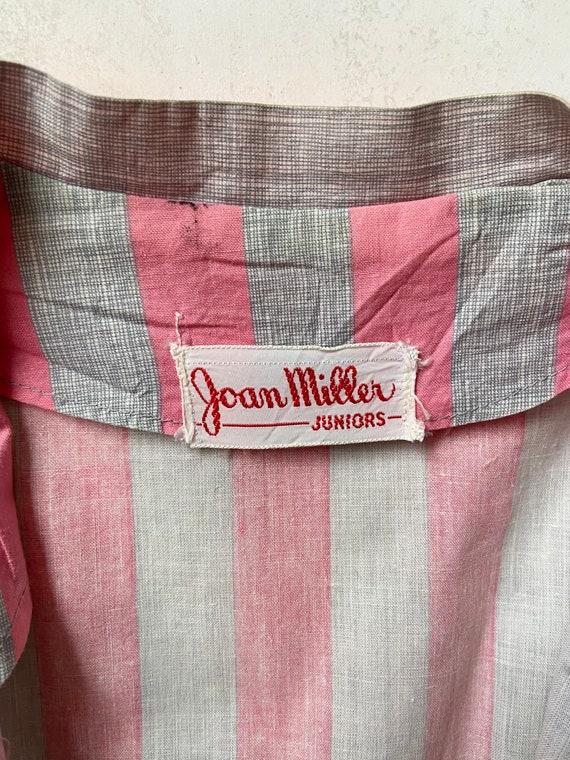 Vintage 50's Joan Miller Juniors Shirtwaist Dress… - image 5