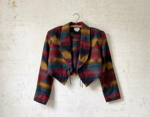 Vintage 80's You Babes Southwest Pattern Jacket sz
