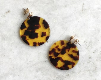 Semar earrings | tortoise earrings | large tortoise statement earrings