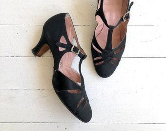 Hudson's Detroit t-strap heels | 1920s shoes | vintage 20s shoes