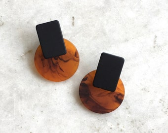 Bex earrings | tortoise earrings | abstract statement earrings