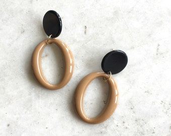 Etena earrings | large statement earrings | plastic abstract earrings