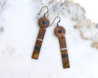 Aztlan earrings | vintage copper earrings | 1960s earrings