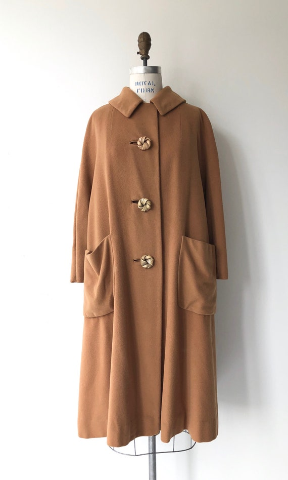 Toffee cashmere coat | 1950s swing coat | vintage… - image 6