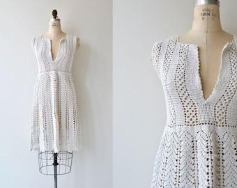 Bulgarian Crochet dress | vintage 1920s cotton crochet dress | crochet tunic dress