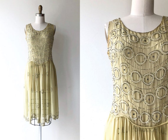 Round & Round dress | 1920s silk beaded dress | be