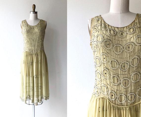 Round & Round dress   1920s silk beaded dress   be