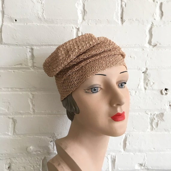 Rare 1920s knit cloche | antique 20s knit hat | s… - image 7