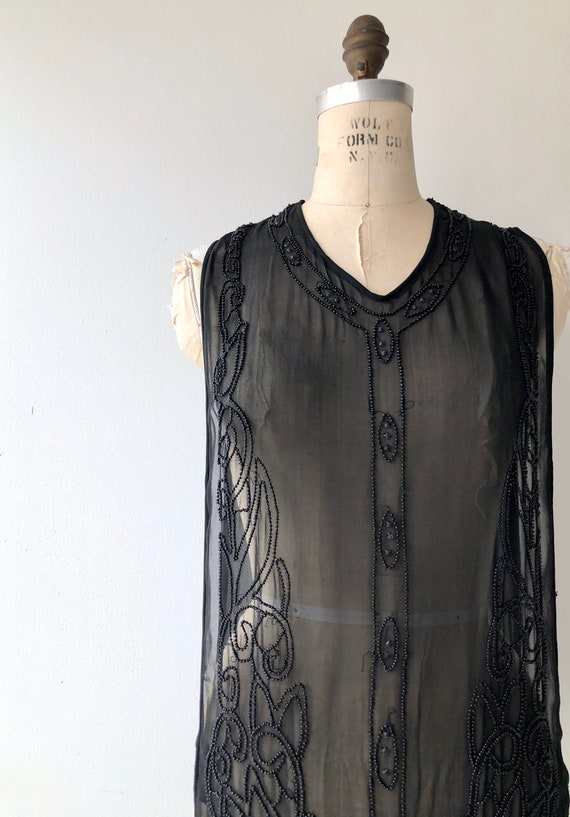 Revival beaded silk tabard | 1920s beaded dress |… - image 3