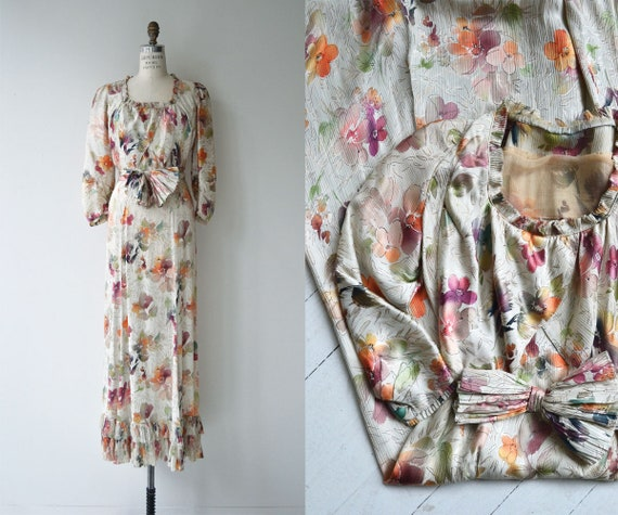 Lark House silk dress | vintage 1930s floral dress