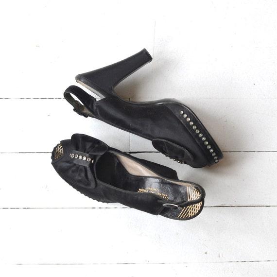 New Starlet platforms | vintage 1940s shoes • blac