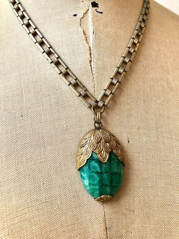 vintage 1930s necklace | 30s glass necklace | 193… - image 5