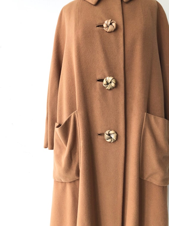 Toffee cashmere coat | 1950s swing coat | vintage… - image 3