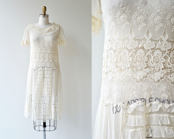 Catherinette dress | antique 1920s dress | lace 20