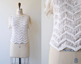 Summer Loom sweater | woven cotton sweater | vintage loomed sweater