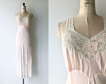 Selene rayon nightgown |  1940s lingerie | vintage 40s nightgown