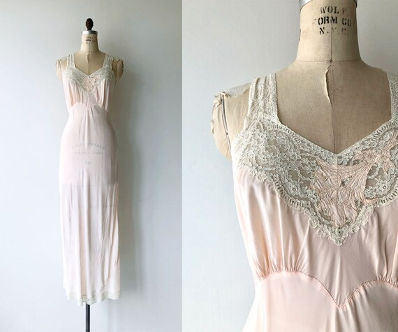 Selene rayon nightgown |  1940s lingerie | vintage