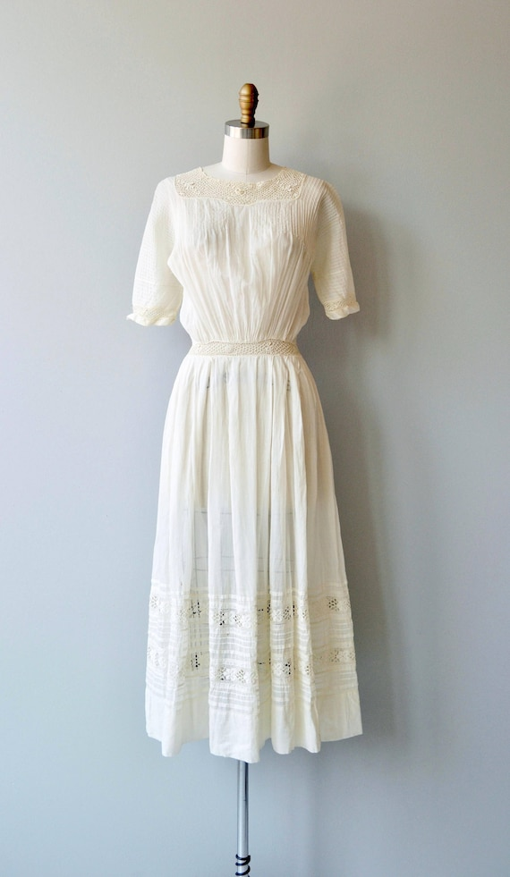 Mirfield Villa dress | 1910s cotton dress | antiq… - image 6