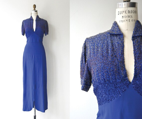 Reign Supreme beaded dress | vintage 1930s dress |