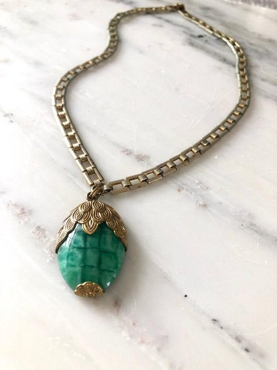 vintage 1930s necklace | 30s glass necklace | 193… - image 8