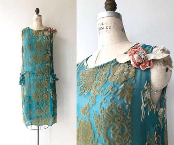 Leitmotif devore velvet dress | 1920s dress | vint