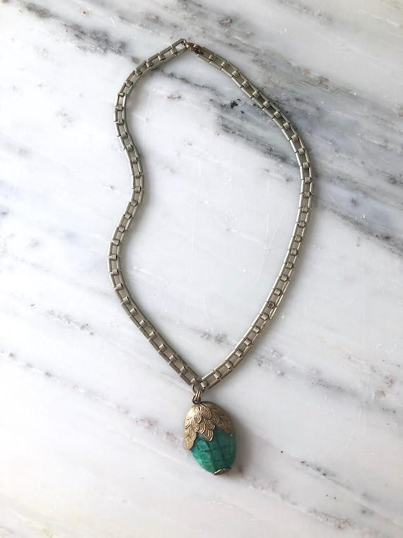 vintage 1930s necklace | 30s glass necklace | 193… - image 3
