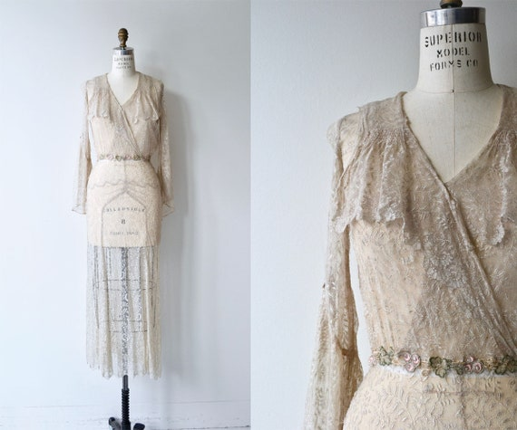 Blythe lace wedding gown | 1930s silk lace wedding