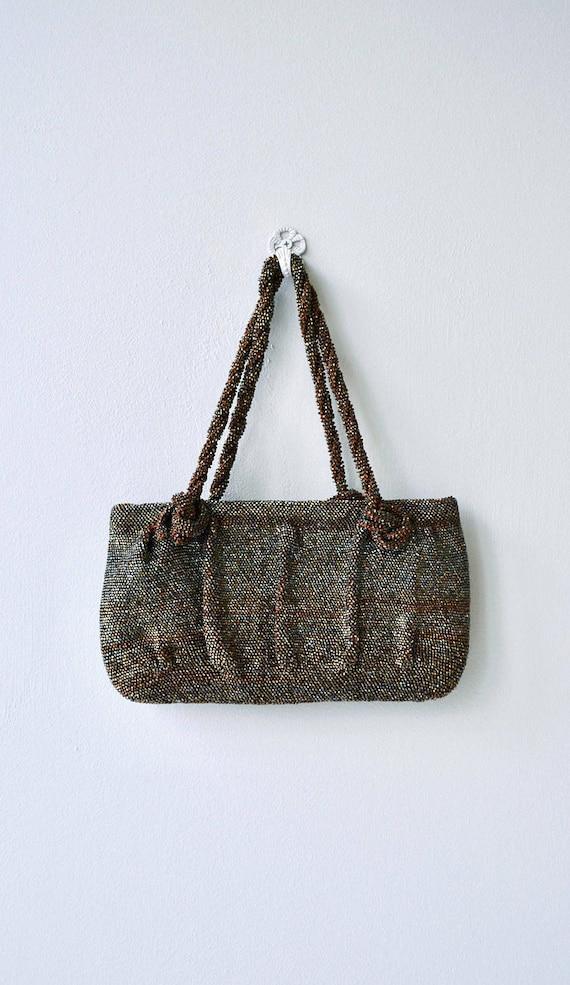 Bronze Age handbag | vintage 1930s beaded purse |… - image 5
