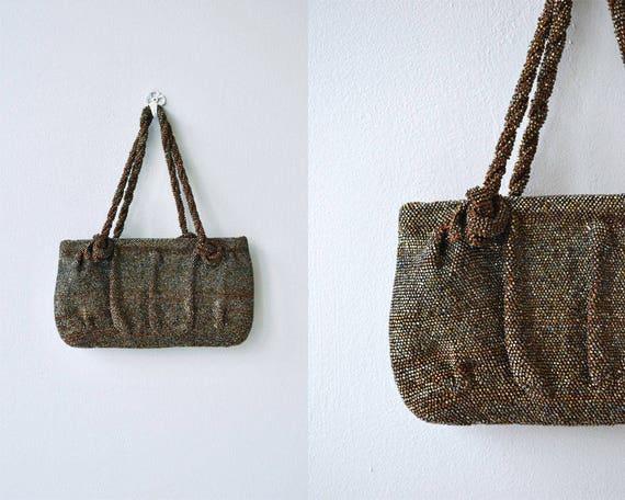 Bronze Age handbag | vintage 1930s beaded purse |