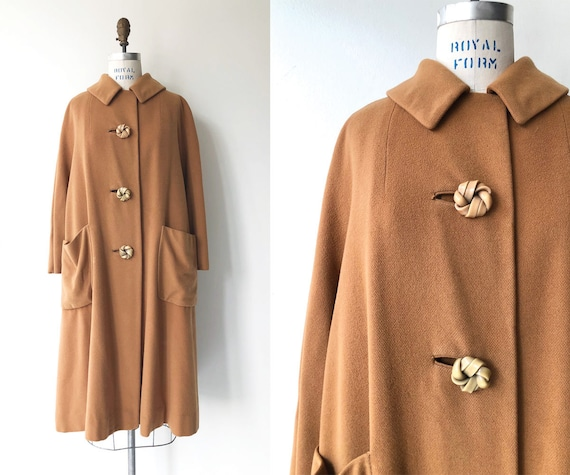 Toffee cashmere coat | 1950s swing coat | vintage