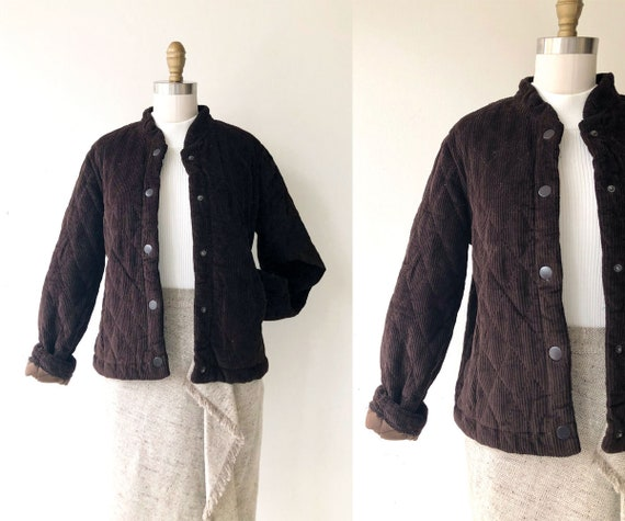 brown corduroy jacket | quilted cotton jacket | qu