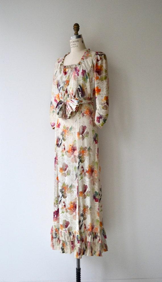 Lark House silk dress | vintage 1930s floral dres… - image 6