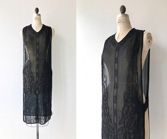 Revival beaded silk tabard | 1920s beaded dress |