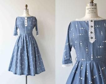 Le Taillefer dress | vintage 1950s dress | blue 50s dress