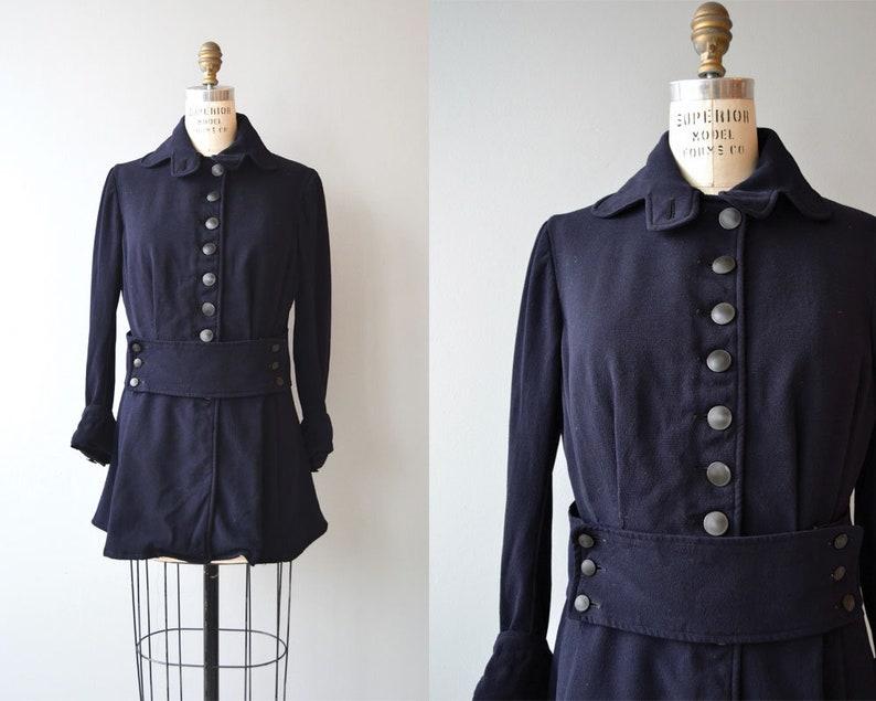 Edwardian wool jacket  1910s walking jacket  gabardine wool image 0
