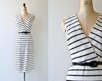 Maritime Stripe dress | vintage 1970s dress | striped nautical dress