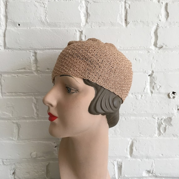 Rare 1920s knit cloche | antique 20s knit hat | s… - image 5