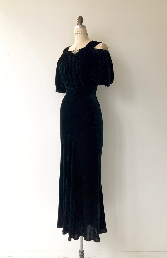 Aphaea silk velvet gown | 1930s silk velvet dress… - image 2