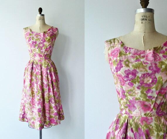 Melina floral dress | 1950s dress | floral 50s dre