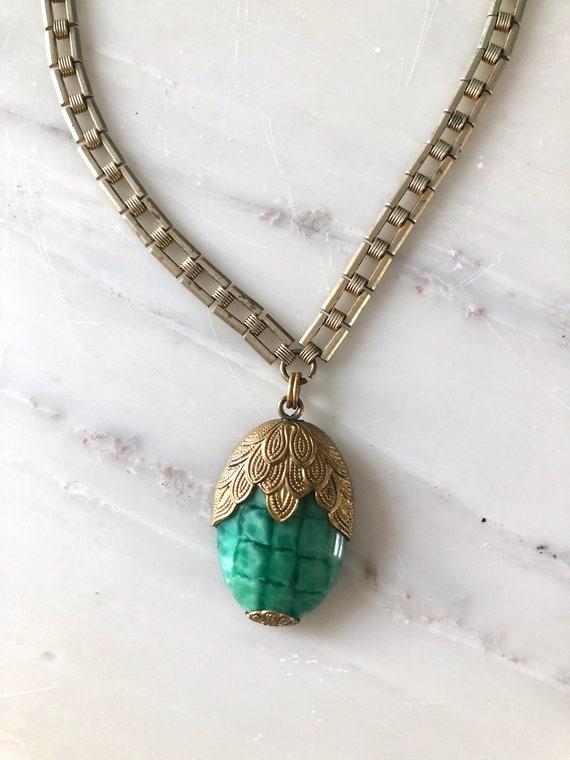 vintage 1930s necklace | 30s glass necklace | 193… - image 9