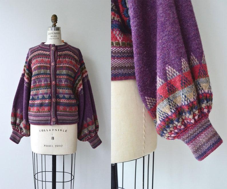 Harrogate cardigan  Rachel Grimmer wool sweater  balloon image 0