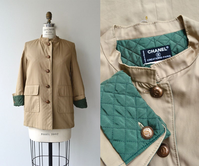 Chanel quilted jacket  vintage Chanel jacket  quilted cotton image 0