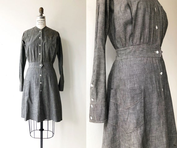 Antique Edwardian Workwear dress | 1900s dress