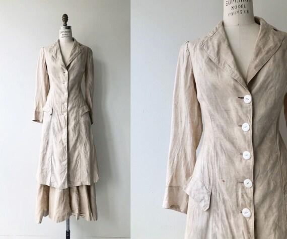 Edwardian Motoring suit | antique Edwardian linen