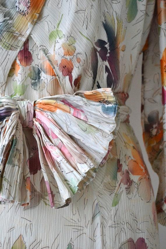 Lark House silk dress | vintage 1930s floral dres… - image 4