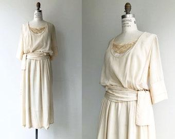 Elaria silk dress | 1920s wedding dress | antique 20s wedding