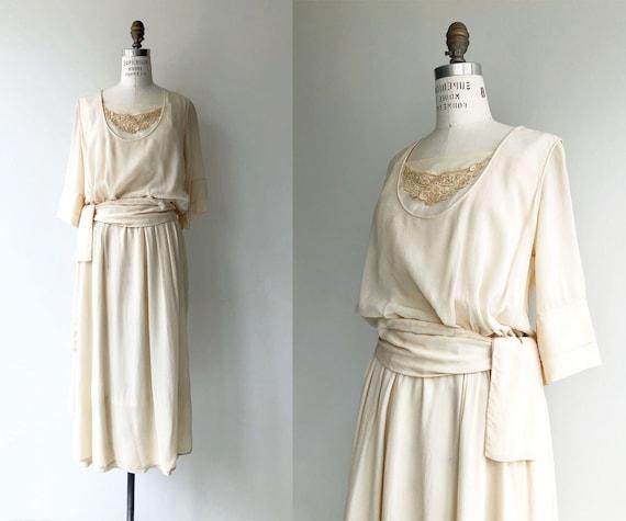 Elaria silk dress | 1920s wedding dress | antique
